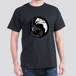 yin_yang_dogs Dark T-Shirt